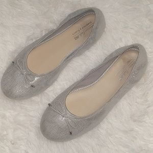 AMERICAN EAGLE Silver Ballet Memory Slip On Shoes